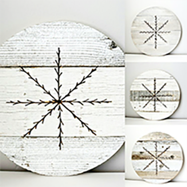 Reclaimed Snowflake Round