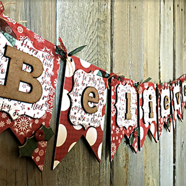 Believe Wood Banner