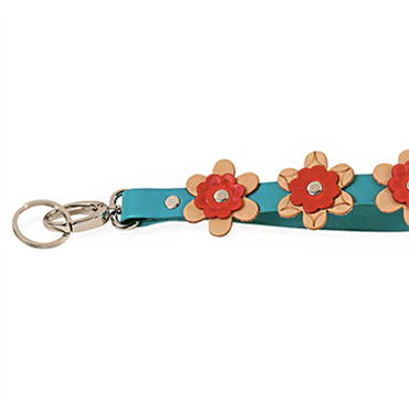 Floral Wristlet Key and Bag Charm