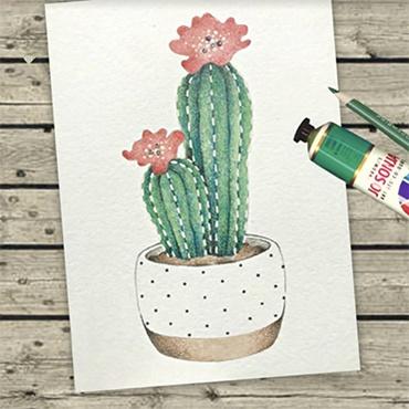 Paint & Pencil Cactus Petite