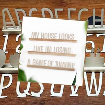 Customizable Letter Ledges