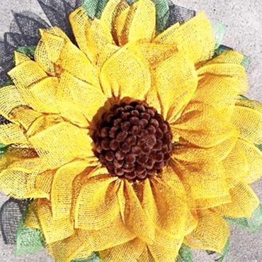 Stunning Sunflower Wreath