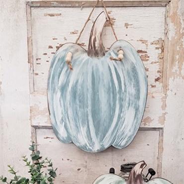 Trendy Fall Pumpkin on Wood