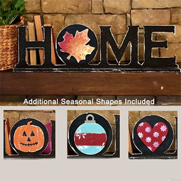 Interchangeable Seasonal HOME Sign