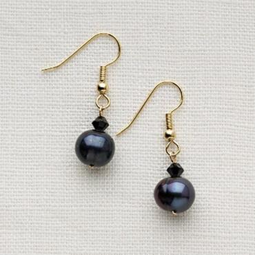 Single or Double Drop Pearl Earings