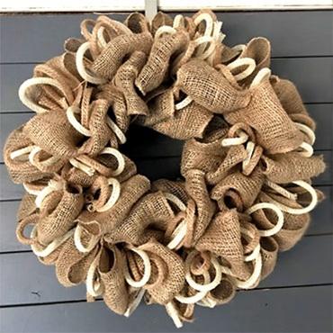 DIY Natural Jute & Burlap Wreath