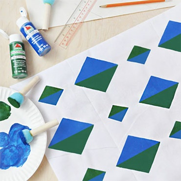 Design Your Own Repeat Pattern Stencil to Make a Wall Hanging, Scarf, Bandana, & More!