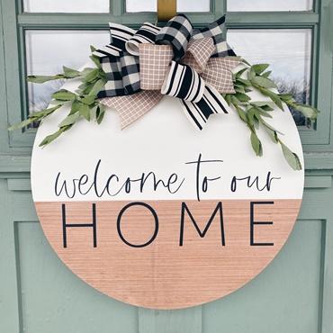 Welcome to Our Home Door Hanger