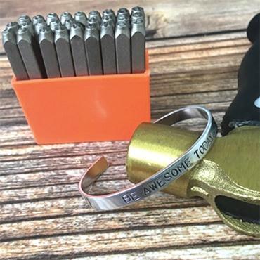 Personalized Stamped Cuff Bracelet