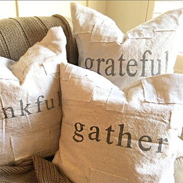 DIY Grain Sack Pillow Cover