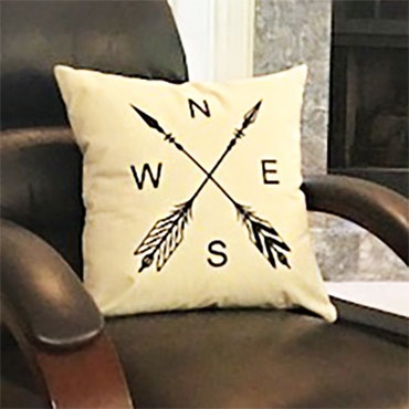 Painted Pillow