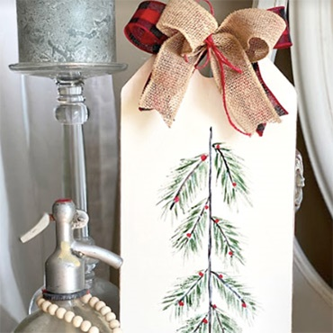 Hand Painted Holiday Tree