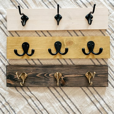 Make Your Own Entryway Hook Board