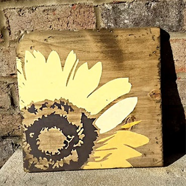 Sunflower Wood Sign